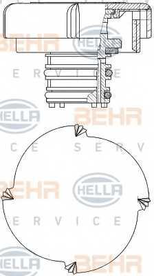 Крышка резервуара охлаждающей жидкости HELLA 8MY 376 743-451 - изображение