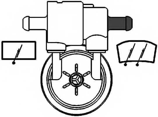 Водяной насос стеклоочистителя HELLA 8TW 005 206-011 - изображение 1