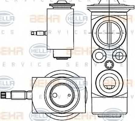Расширительный клапан кондиционера HELLA 8UW 351 234-401 - изображение
