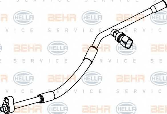 Трубопровод высокого давления кондиционера HELLA 9GS 351 337-091 - изображение