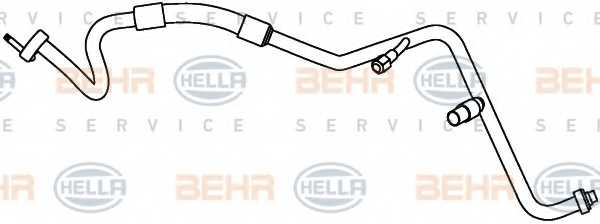 Трубопровод высокого / низкого давления кондиционера HELLA 9GS 351 338-171 - изображение