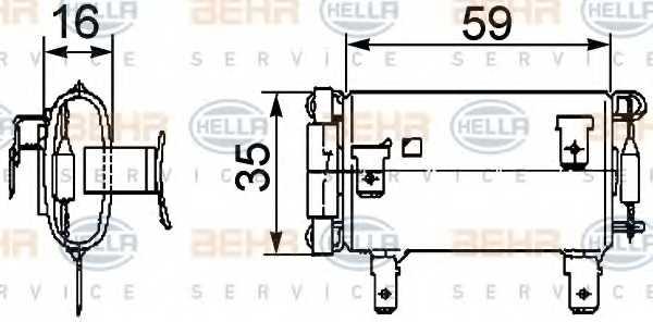 Сопротивление вентилятора салона HELLA 9ML 351 029-381 - изображение
