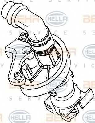 Регулирующий клапан охлаждающей жидкости HELLA 9XL 351 029-021 - изображение
