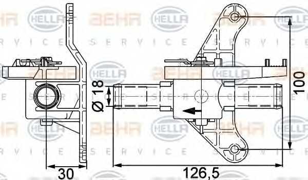 Регулирующий клапан охлаждающей жидкости HELLA 9XL 351 328-041 - изображение