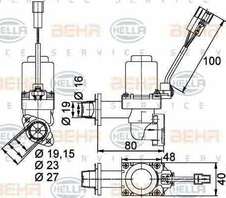 Регулирующий клапан охлаждающей жидкости HELLA 9XL 351 328-351 - изображение