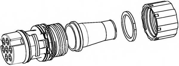 Комплект соединителей проводов HELLA 9XX 340 880-001 - изображение
