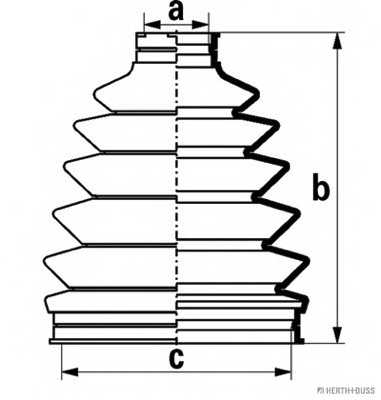 Комплект пылника приводного вала HERTH+BUSS JAKOPARTS J2865018 - изображение