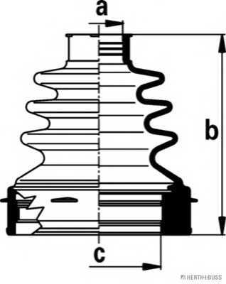 Комплект пылника приводного вала HERTH+BUSS JAKOPARTS J2882021 - изображение