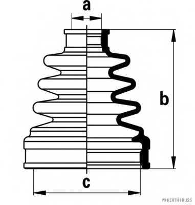 Комплект пылника приводного вала HERTH+BUSS JAKOPARTS J2888013 - изображение