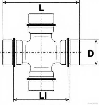 Шарнир продольного вала HERTH+BUSS JAKOPARTS J2922003 - изображение