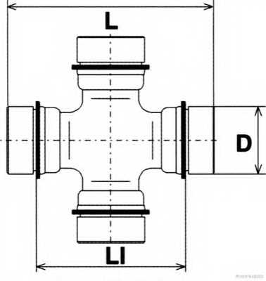 Шарнир продольного вала HERTH+BUSS JAKOPARTS J2923000 - изображение 1