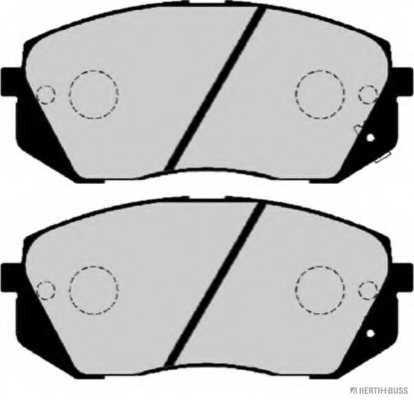 Колодки тормозные дисковые HERTH+BUSS JAKOPARTS J3600338 - изображение 1