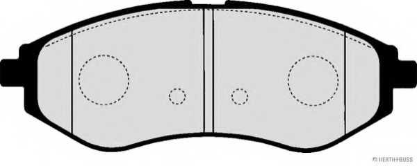 Колодки тормозные дисковые HERTH+BUSS JAKOPARTS J3600911 - изображение 1