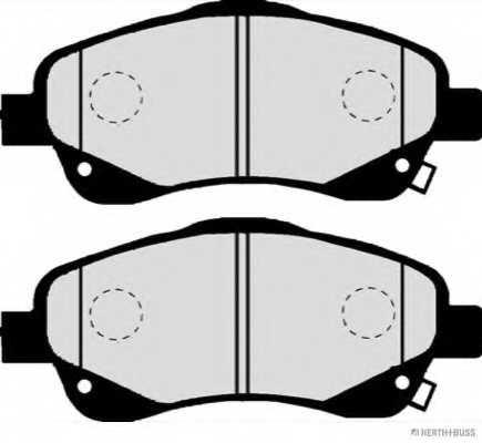 Колодки тормозные дисковые для TOYOTA AVENSIS(T25, T25#), COROLLA(CDE12#, R1#, ZDE12#, ZER#, ZZE12#) <b>HERTH+BUSS JAKOPARTS J3602112</b> - изображение 1
