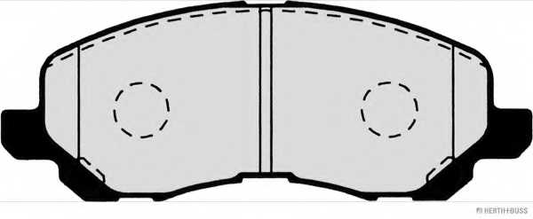 Колодки тормозные дисковые для MITSUBISHI ASX, GALANT, GRANDIS, LANCER, SPACE RUNNER <b>HERTH+BUSS JAKOPARTS J3605046</b> - изображение 1