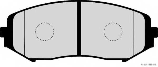 Колодки тормозные дисковые HERTH+BUSS JAKOPARTS J3608028 - изображение 1
