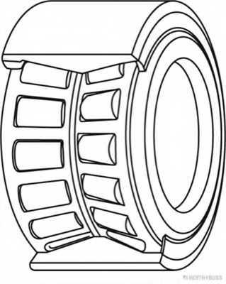 Комплект подшипника ступицы колеса HERTH+BUSS JAKOPARTS J4700307 - изображение 1