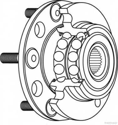 Комплект подшипника ступицы колеса HERTH+BUSS JAKOPARTS J4700516 - изображение 1