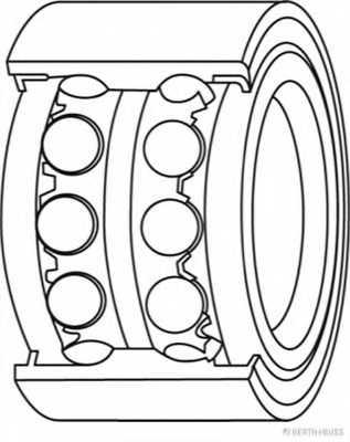 Комплект подшипника ступицы колеса HERTH+BUSS JAKOPARTS J4708013 - изображение 1