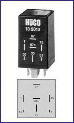 Реле, топливный насос HUCO 132010 - изображение