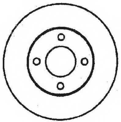Тормозной диск JURID 561312JC - изображение