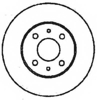 Тормозной диск JURID 561329JC - изображение