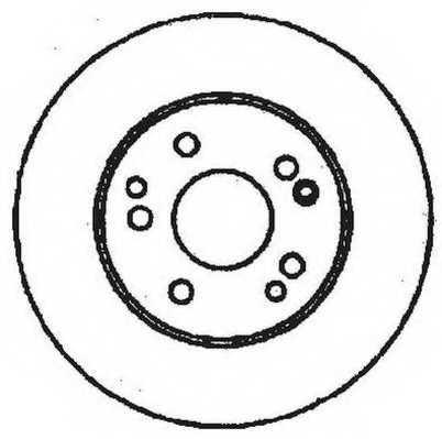 Тормозной диск JURID 561333JC - изображение