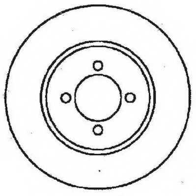 Тормозной диск JURID 561375JC - изображение