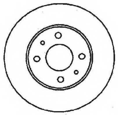 Тормозной диск JURID 561380JC - изображение