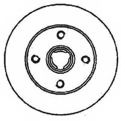 Тормозной диск JURID 561460JC - изображение