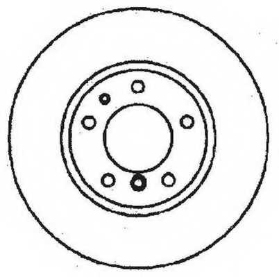 Тормозной диск JURID 561478JC - изображение