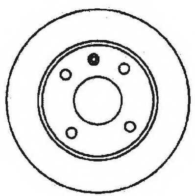 Тормозной диск JURID 561491JC - изображение