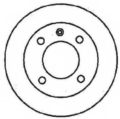 Тормозной диск JURID 561513JC - изображение