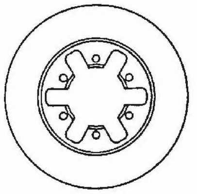 Тормозной диск JURID 561523JC - изображение