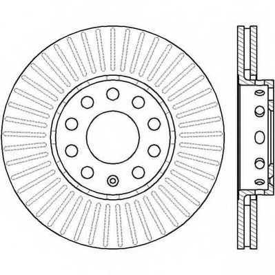Тормозной диск JURID 561548JC - изображение