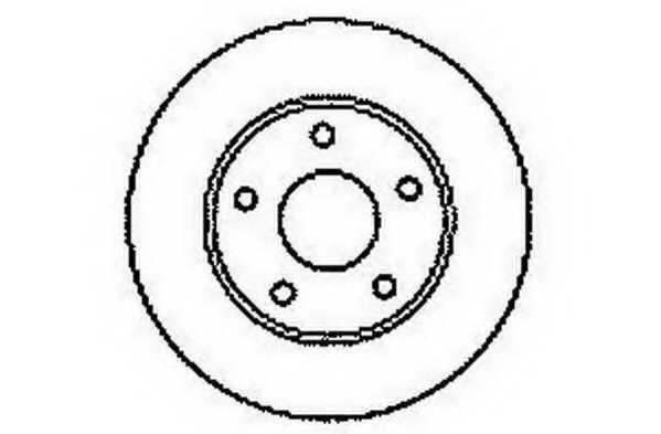 Тормозной диск JURID 561549JC - изображение