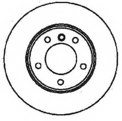 Тормозной диск JURID 561551JC - изображение