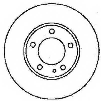 Тормозной диск JURID 561552JC - изображение