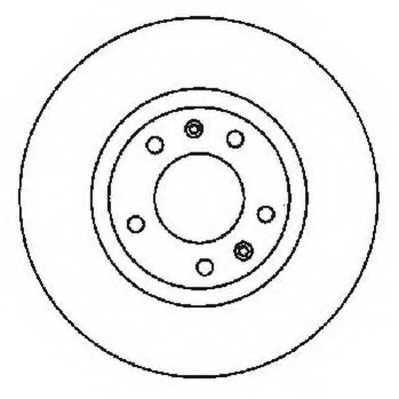 Тормозной диск JURID 561596JC - изображение