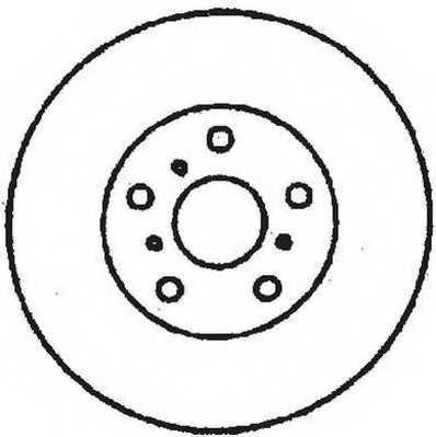 Тормозной диск JURID 561619JC - изображение