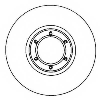 Тормозной диск JURID 561643JC - изображение