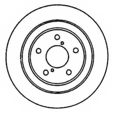 Тормозной диск JURID 561667JC - изображение