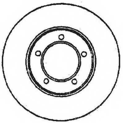 Тормозной диск JURID 561676JC - изображение