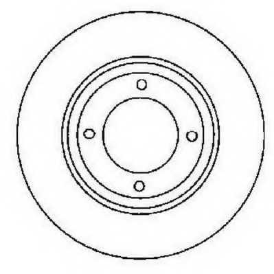 Тормозной диск JURID 561688JC - изображение