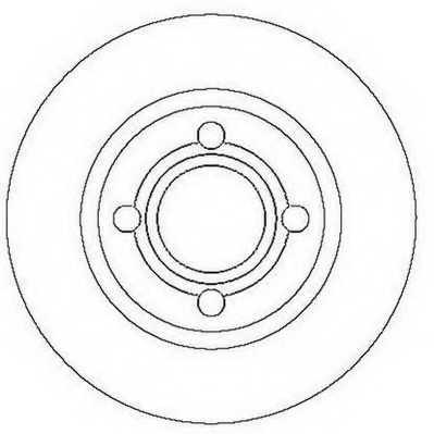 Тормозной диск JURID 561689JC - изображение