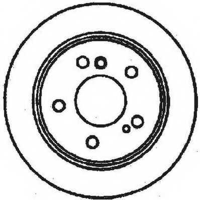 Тормозной диск JURID 561698JC - изображение