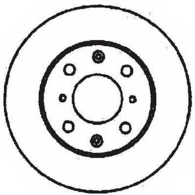 Тормозной диск JURID 561711JC - изображение
