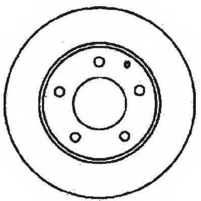 Тормозной диск JURID 561716JC - изображение