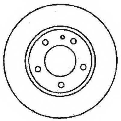 Тормозной диск JURID 561717JC - изображение