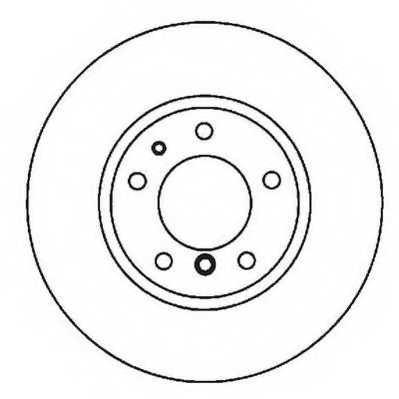 Тормозной диск JURID 561963JC - изображение